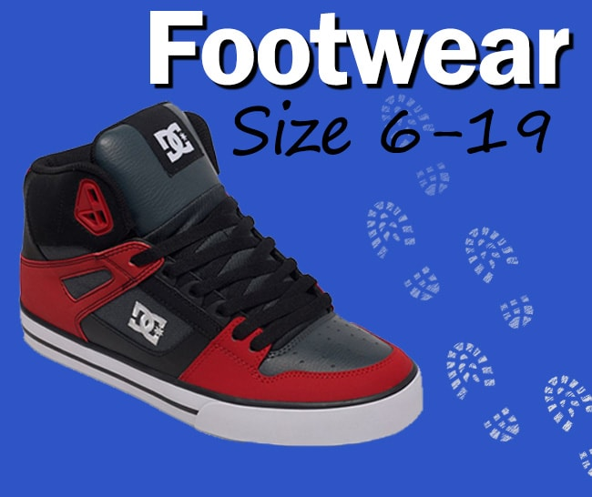 Mens Footwear from size 6 up to size 19