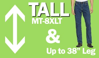 Tall Mens Clothing from size MT up to 8XLT