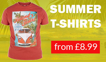 Summer T-Shirts from only £8.99