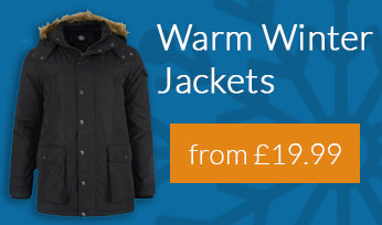 Warm winter coats from only £19.99